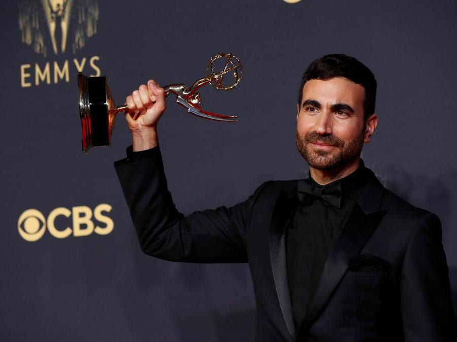 Brett Goldstein vincitore per «Ted Lasso», at the 73rd Primetime Emmy Awards in Los Angeles, U.S., September 19, 2021. (Reuters/Mario Anzuoni)