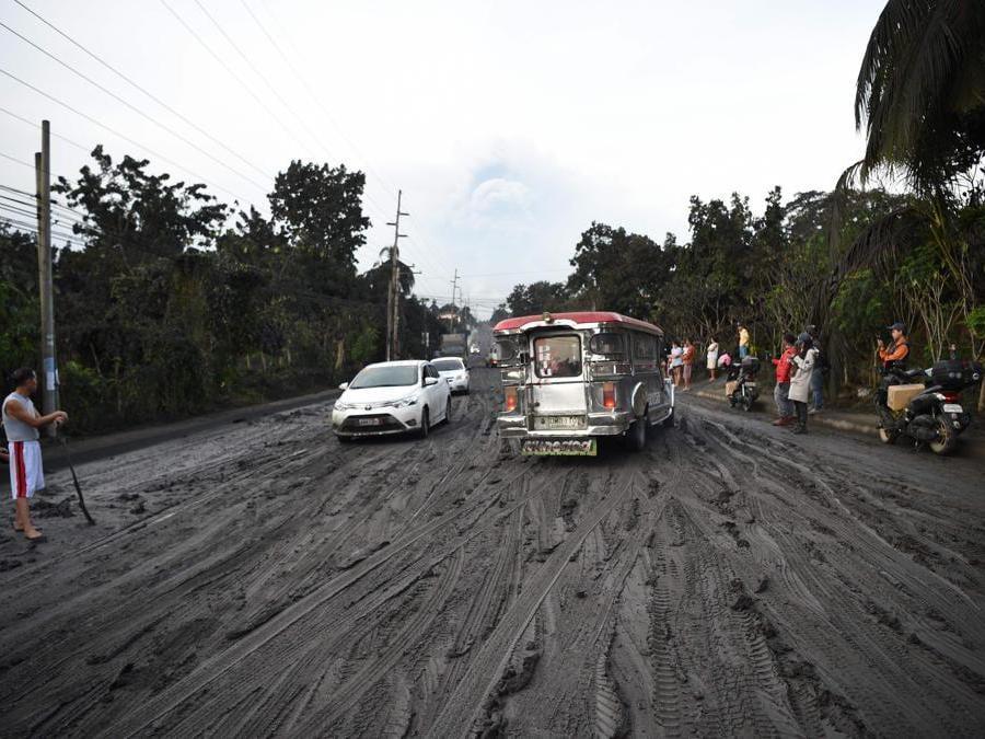 Città diTanauan, provincia di  Batangas a sud di Manila. (Photo by Ted ALJIBE / AFP)