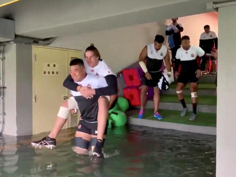 Chichibunomiya Rugby Stadium di Tokyo, Giappone (JRFU via REUTERS)
