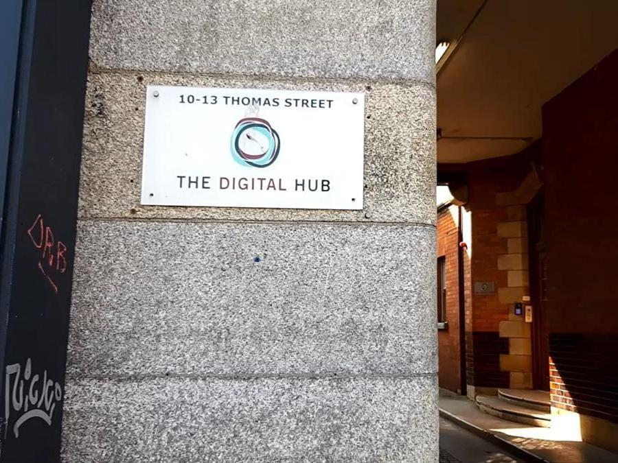 La sede di Digital Hub nel nuovo distretto tecnologico di Dublino nell'area della Guinness