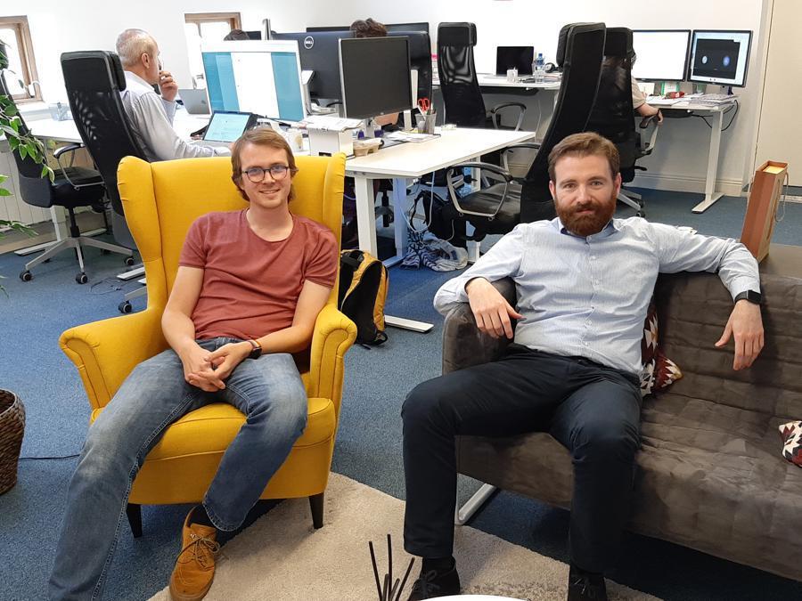 Luca Boschin e Alessandro Prest, fondatori a Dublino di LogoGrab, start up di riconoscimento delle immagini sul web