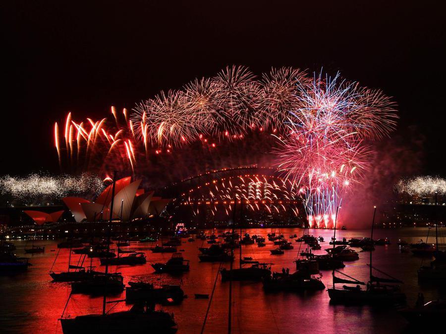 Sydneyic Harbour Bridge . (Photo by SAEED KHAN / AFP)