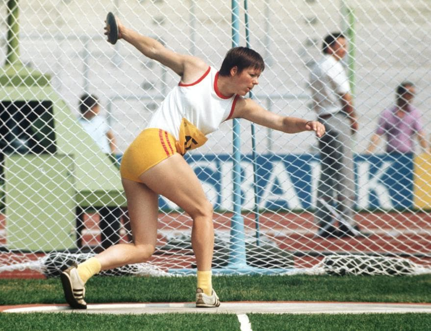 La lanciatrice del disco tedesca  Brigitte Berendonk. Foto: DB/picture-alliance/dpa/AP Images