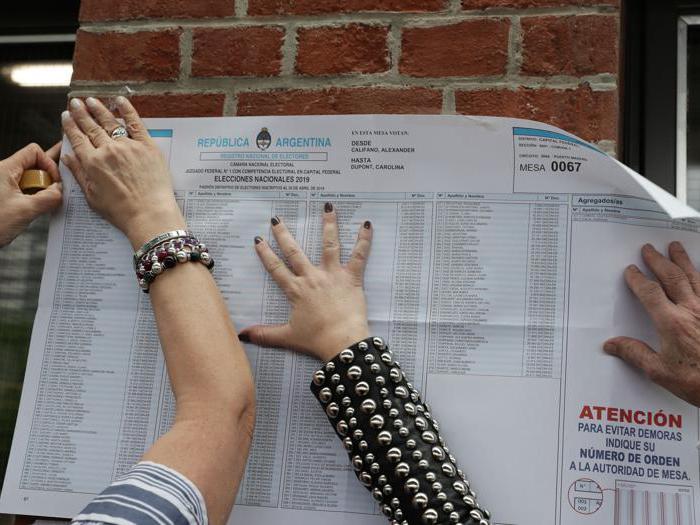 Il voto in Argentina