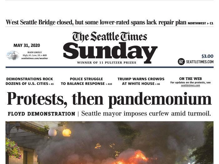 La rivolta sui giornali Usa: le prime pagine