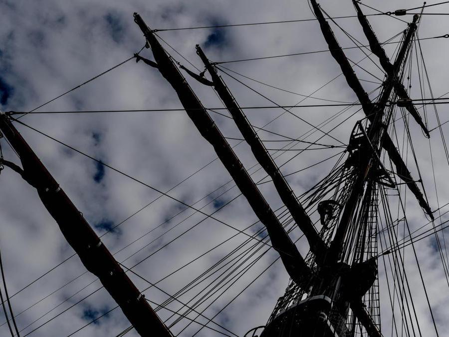 "La nave italiana ""Amerigo Vespucci"" (Epa / Filip Singer)"
