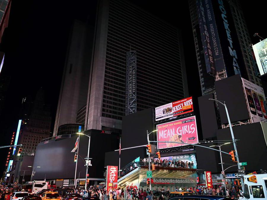 Il blackout di questa notte a New York (Photo by Johannes EISELE / AFP)