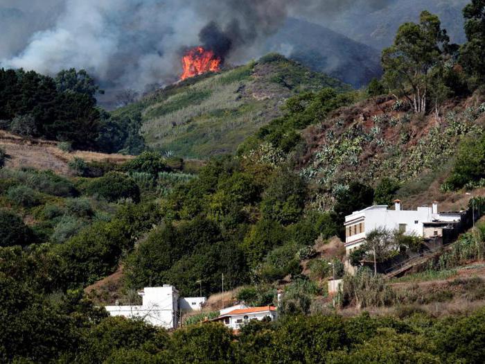 Spagna, Gran Canaria in fiamme