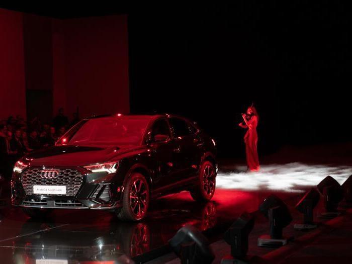 Audi Q3 Sportback, le foto inedite del debutto italiano