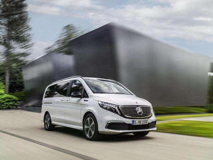Il debutto di Mercedes EQV: il van classe V a batteria
