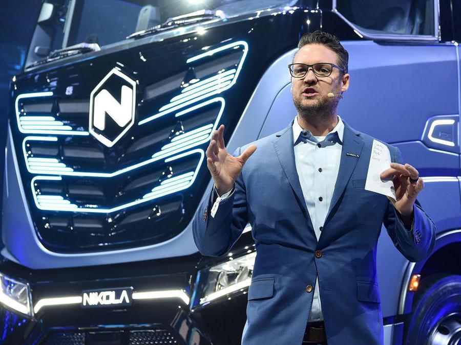 Trevor Milton CEO NIkola durante la serata di presentazione dei nuovi veicoli presso le OGR, Torino, 2 Dicembre 2019 ANSA/ ALESSANDRO DI MARCO
