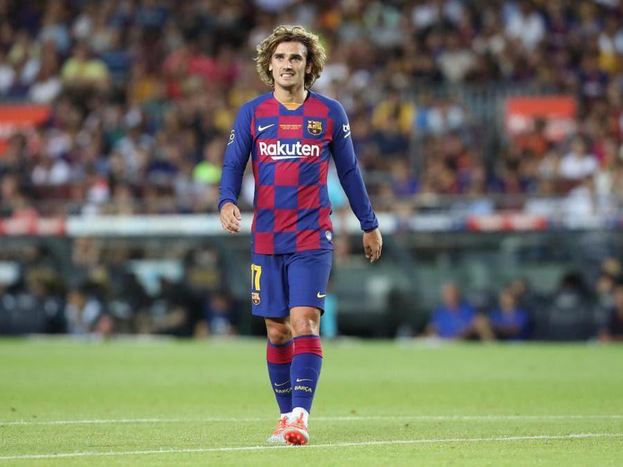 Il 28enne attaccante francese, Antoine Griezmann, acquistato dal Barcellona. Nella casse dell'Atletico Madrid 120 milioni di euro. (Afp)