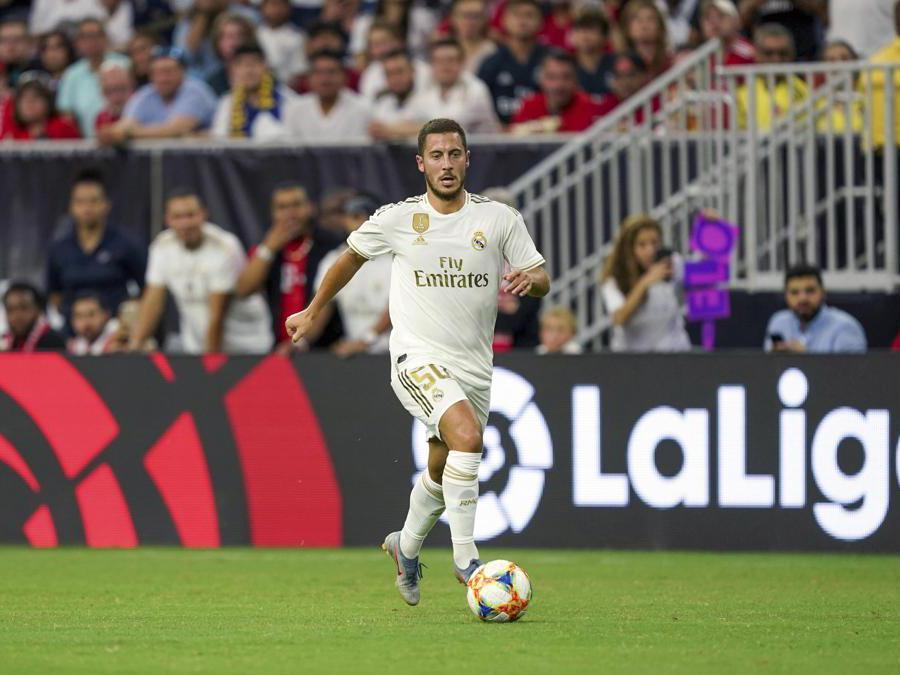 Il 28enne centrocampista belga Eden Hazard, acquistato dal Real Madrid. Al Chelsea 100 milioni di euro. (Ap)