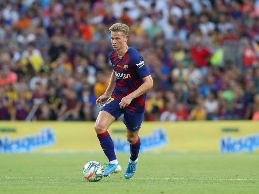Il 22enne centrocampista olandese Frenkie de Jong, acquistato dal Barcellona. Nelle casse dell'Ajax 75 milioni di euro più 11 milioni di bonus. (Afp)