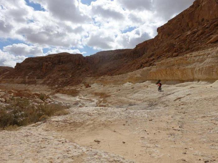 Il deserto del Negev a due ruote