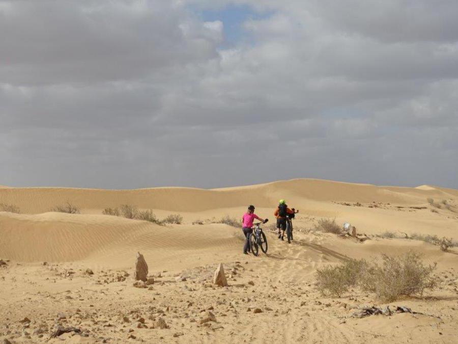 Ciclisti sulle dune