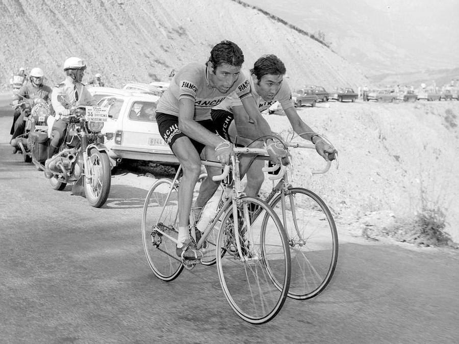 1975, Tour de France.  Felice Gimondi e Eddy Merckx (Ipp)