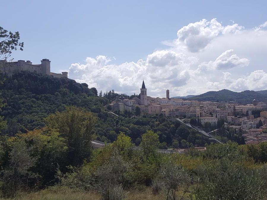 L'arrivo a Spoleto
