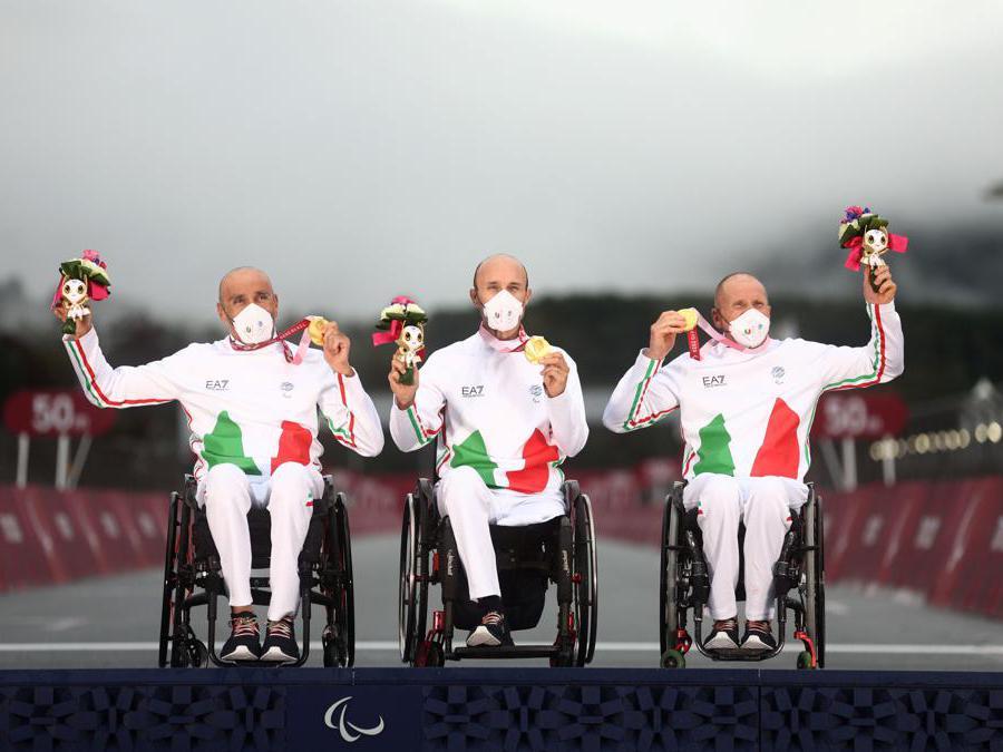 Luca Mazzone, Diego Colombari e  Paolo Cecchetto. (Reuters / Lisi Niesner)