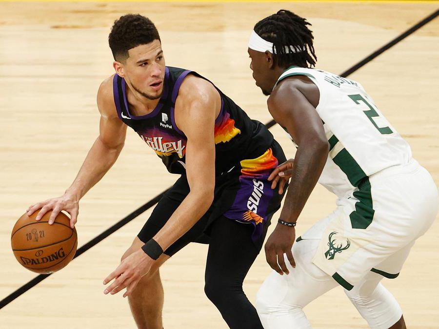 Devin Booker (Photo by Christian Petersen / GETTY IMAGES NORTH AMERICA / AFP)