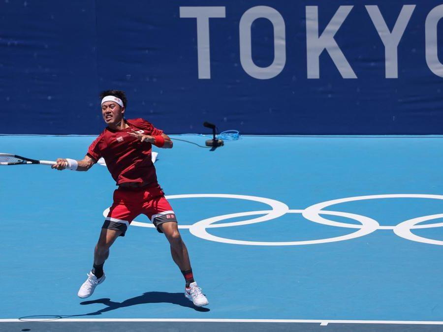 Kei Nishikori  (Photo by Giuseppe CACACE / AFP)