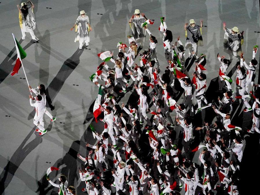 Jessica Rossi e Elia Viviani, della delegazione italiana  (AP Photo/Morry Gash)
