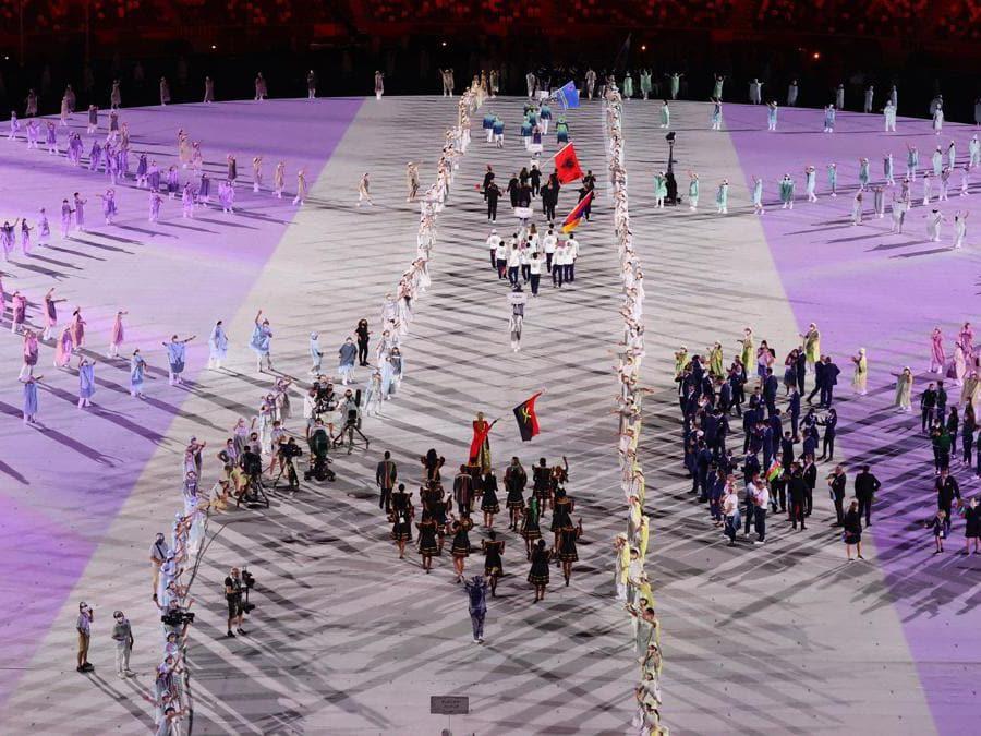 L'apertura delle Olimpiadi di Tokyo 2020 (Reuters/Leah Millis
