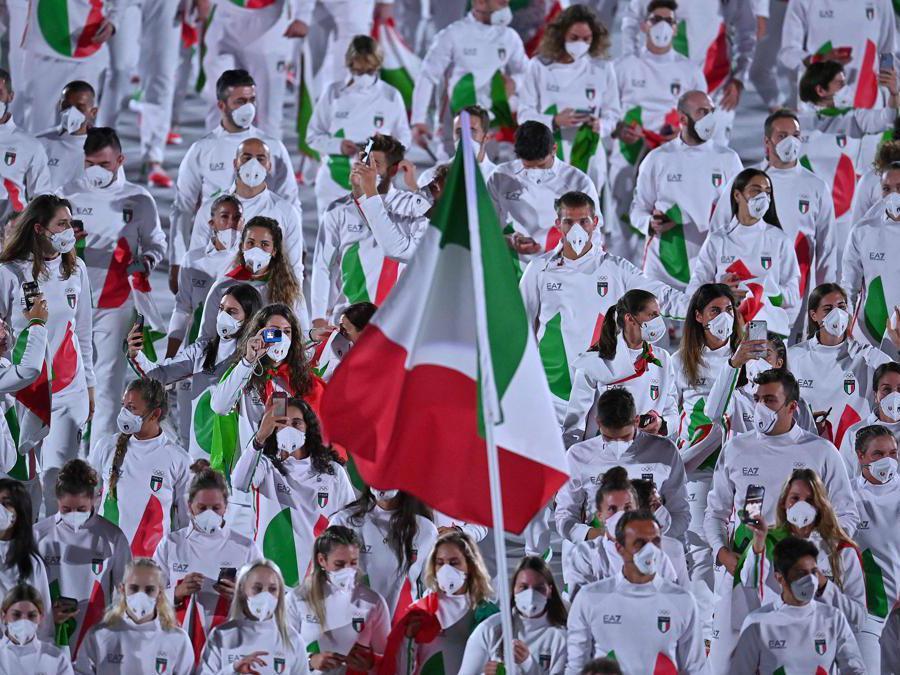 La deleazione italiana (Afp/Ben Stansall)