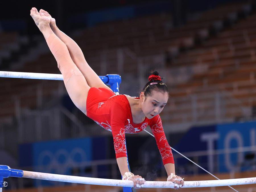Ginnastica artistica femminile: la cinese  Fan Yilin  (Reuters/Lindsey Wasson)