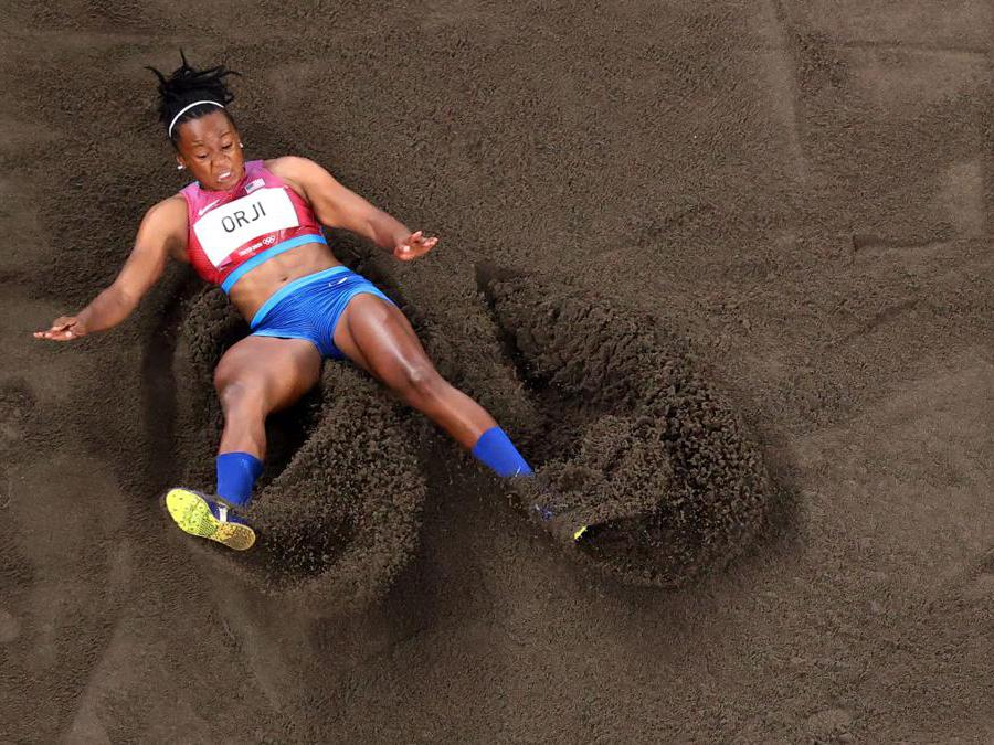 Triplo salto femminile: la statunitense  Keturah Orji  (Reuters)