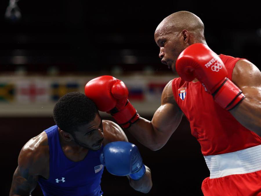 Boxe quarti di finale peso welter uomini l'americano Delante Johnson contro il cubano  Roniel Iglesias. REUTERS/Buda Mendes