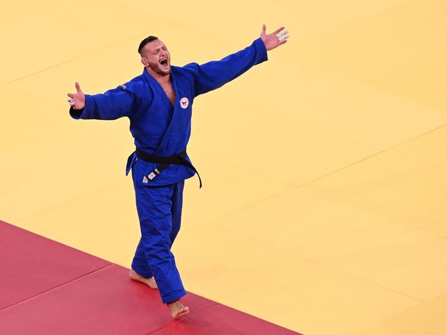 Il cecoslovacco Lukas Krpalek 100kg medaglia d'oro di judo