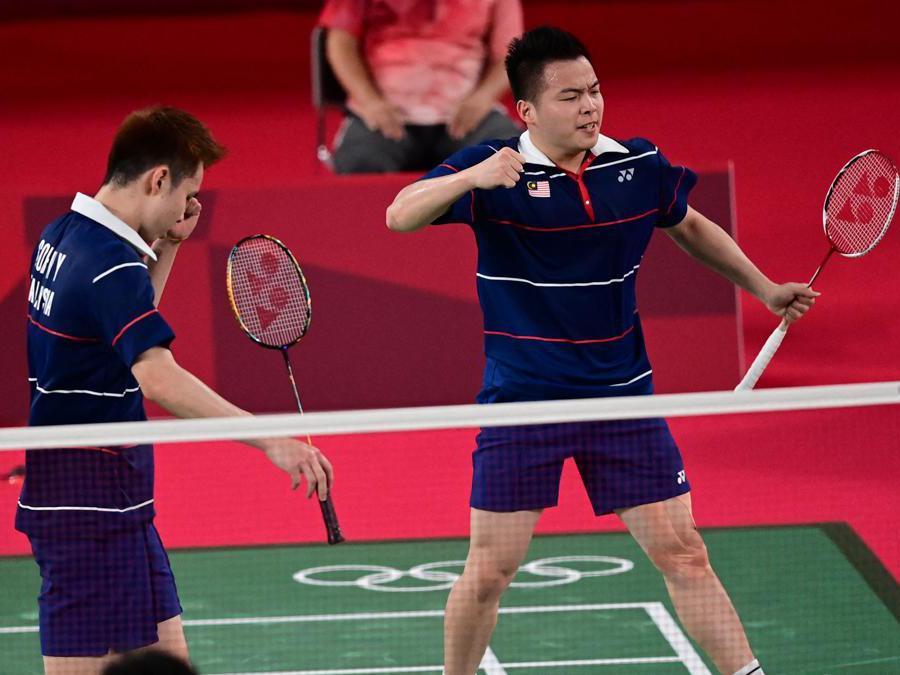 I malesi  Soh Wooi Yik (a sinistra) e Aaron Chia  Afp/Pedro Pardo)