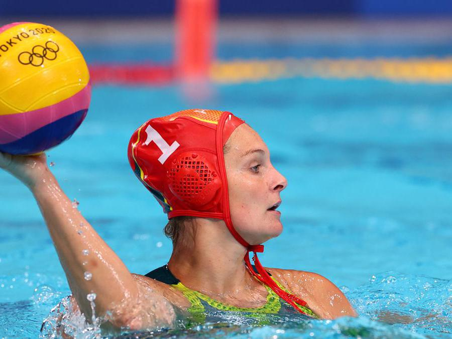 Pallanuoto femminile, match tra Canada e Australia. Nella foto l'australiana Lea Yanitsas (REUTERS/Kacper Pempel)