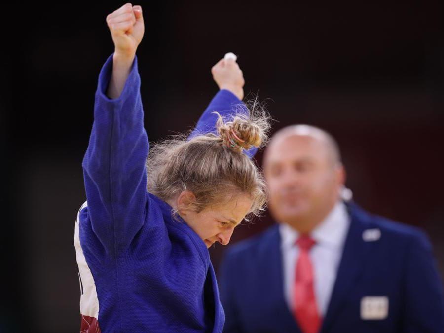 Judo donne   48 Kg, l'israeliana Shira Rishony celebra la vittoria (REUTERS/Hannah Mckay)