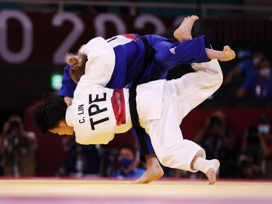 Judo donne  48 Kg, l'israeliana Shira Rishony e la Taiwanese Lin Chen-hao (REUTERS/Hannah Mckay)