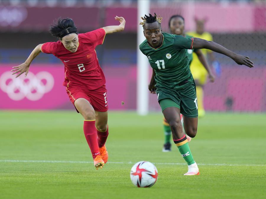 Incontro di calcio femminile tra Cina e Zambia  (AP Photo/Andre Penner)