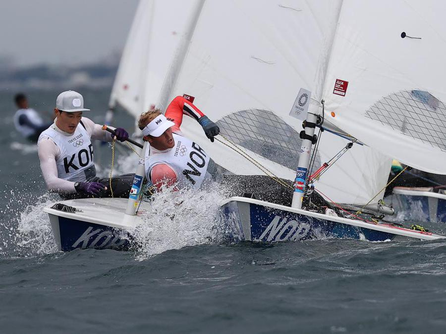 Il sudcoreano  Ha Jee-min e il norvegese Hermann Tomasgaard (Reuters/Ivan Alvarado)