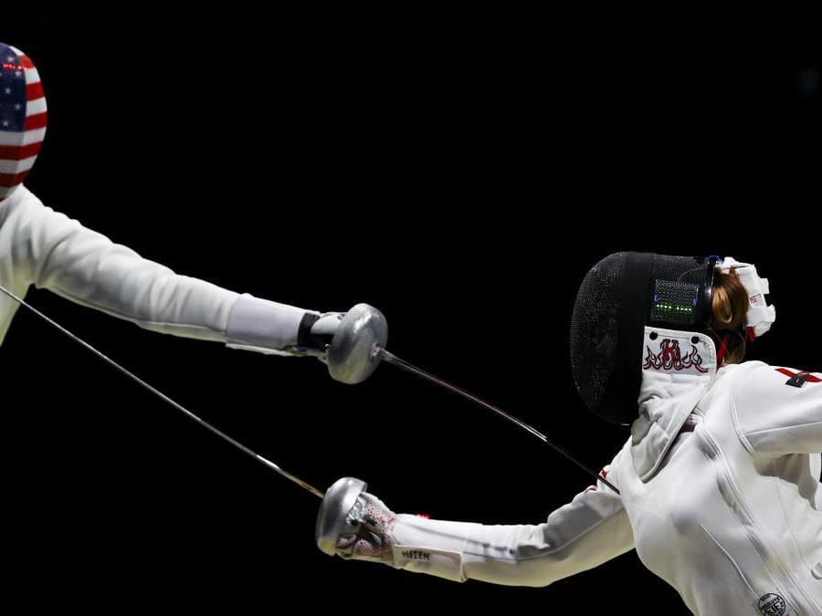 La cinese Hsieh Kaylin Sin Yan contro Kelley Hurley degli Stati Uniti (Reuters/Leah Millis)