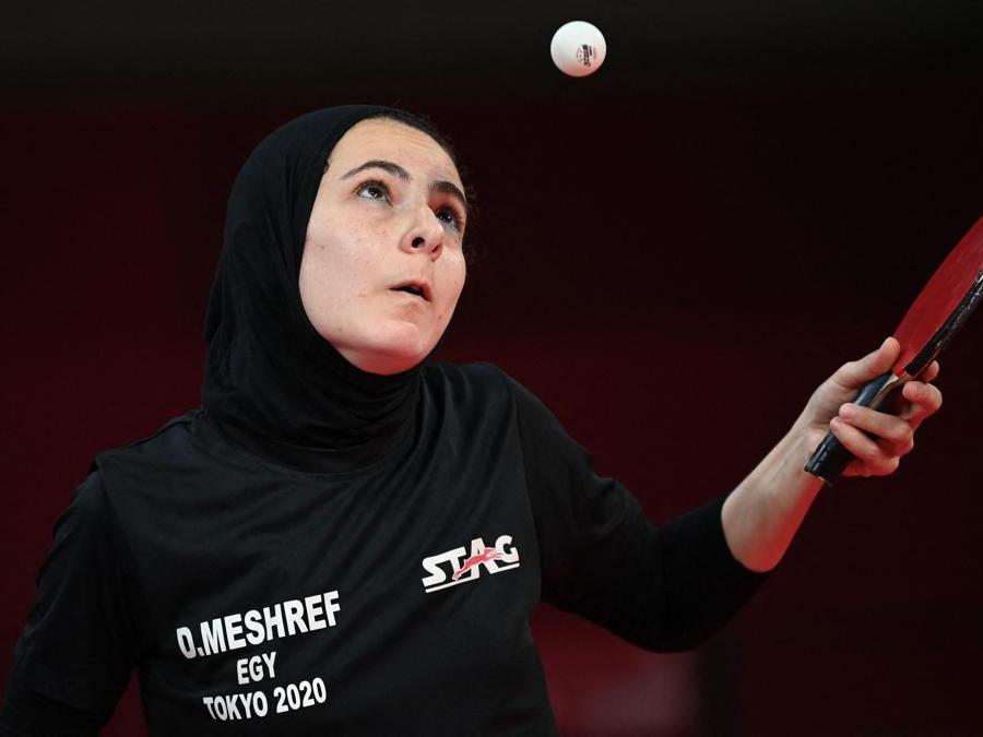 L'egiziana  Dina Meshref durante il match contro la olandese  Britt Eerland  (Afp/Jung Yeon-je)