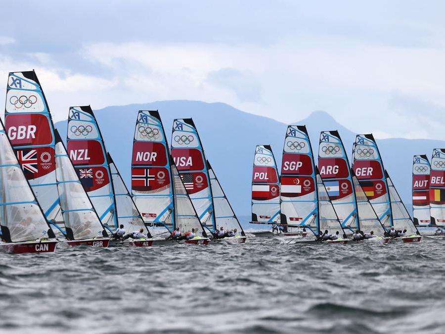 La gara di vela femminile (Reuters/Ivan Alvarado)