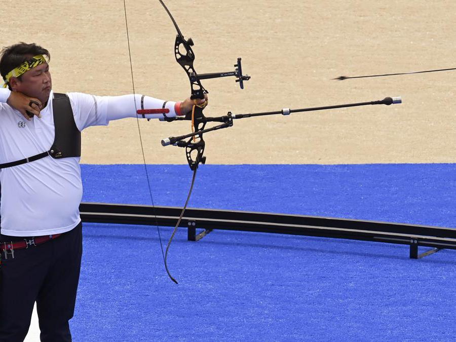 Tiro con l'arco  -  Oh Jin Hyek della Corea del Sud i (Reuters/Clodagh Kilcoyne)