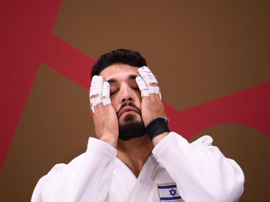 L'israelianoo Tohar Butbul prima dell'incontro (Reuters/Annegret Hilse)