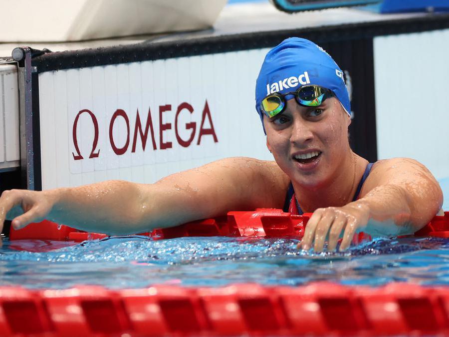 TCarlotta Gilli, oro nei 200 misti di nuoto  REUTERS/Bernadett Szabo
