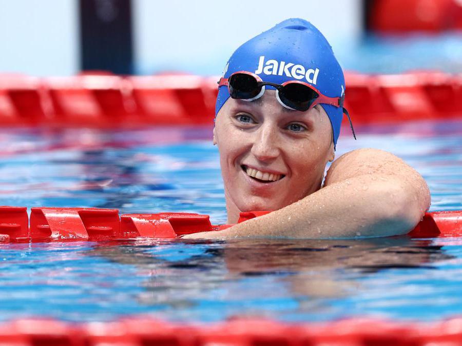 Arjola Trimi vince la medaglia d'oro nei 50 dorso REUTERS/Lisi Niesner