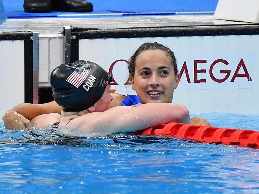 Giulia Terzi ha ottenuto la medaglia d'argento nella gara dei 400 metri stile libero femminile S7 di nuoto alle Paralimpiadi di Tokyo. ANSA/ Bizzi/CIP