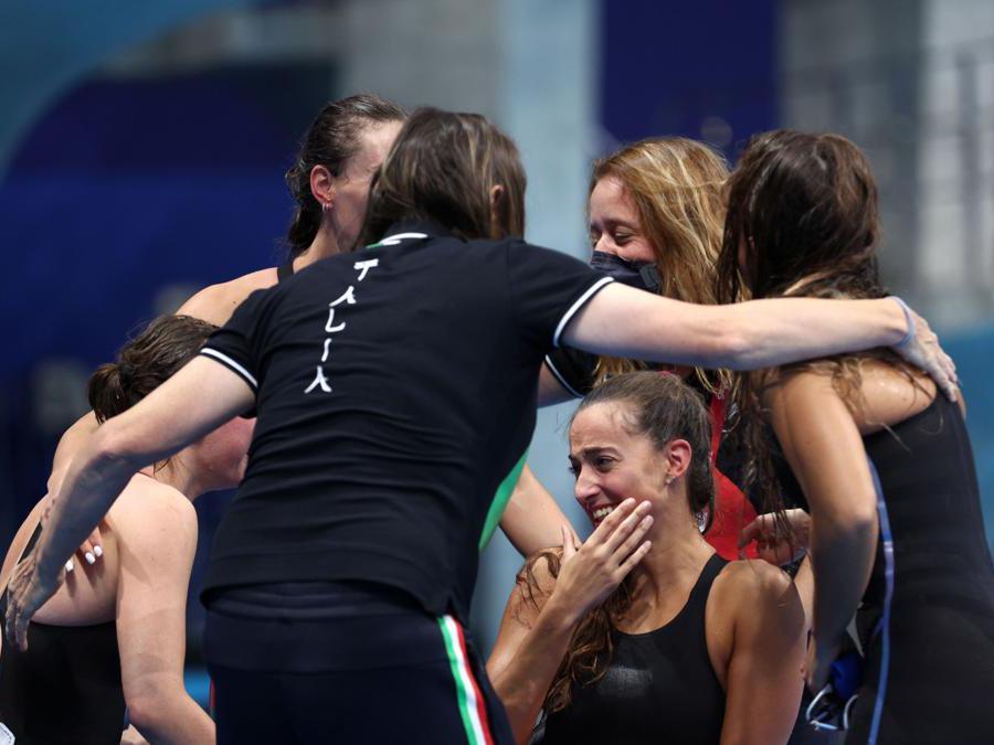 Xenia Francesca Palazzo, Vittoria Bianco, Giulia Terzi e Alessia Scortechini REUTERS/Lisi Niesner