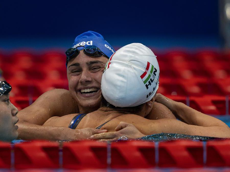 Ghiretti argento 100 rana donne SB4   (AP Photo/Emilio Morenatti)