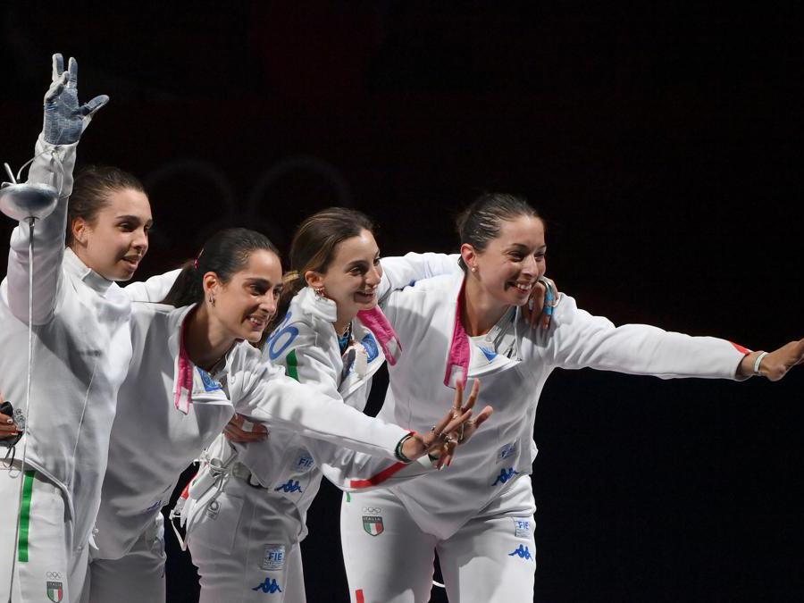 I festeggiamenti dopo la vittoria (Alfredo Falcone - LaPresse)