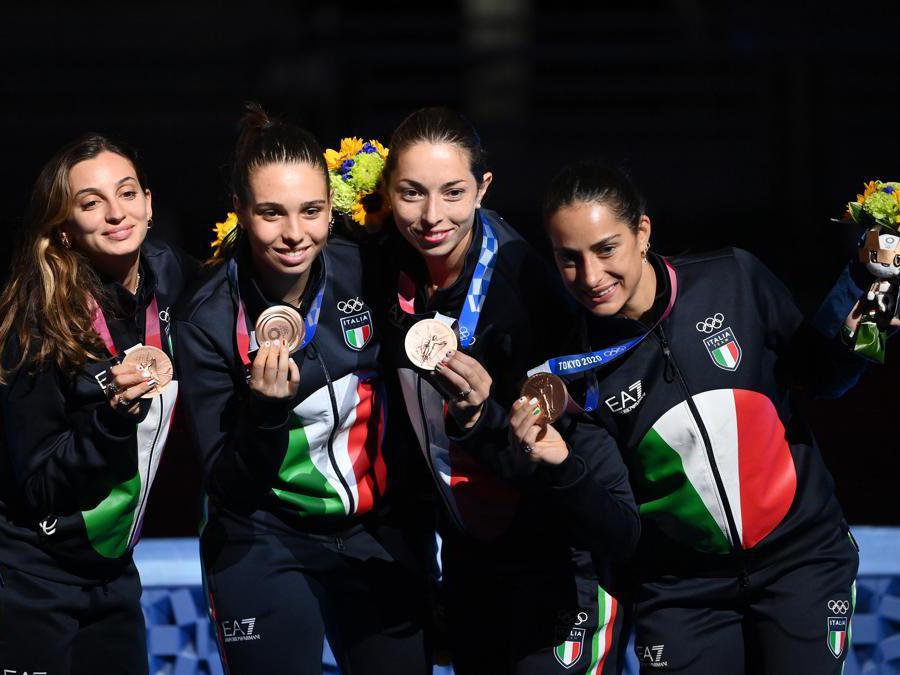 : L'Italia con la medaglia di Bronzo (Alfredo Falcone - LaPresse)